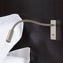 Foco de pared LED empotrable Leo Switched flexible