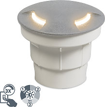 Foco de suelo exterior moderno gris LED IP67 -