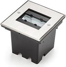 Foco de suelo Malte 9 LED con iluminación flexible
