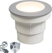Foco de suelo moderno para exterior gris con LED