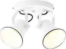 Foco de techo Croft, cabezales giratorios, 2 luces
