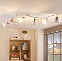 Foco de techo Fridolin de 6 brazos en blanco
