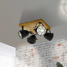 Foco de techo Gatebeck, cuadrado, 4 luces