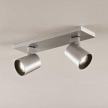 Foco de techo Iavo, regulable, aluminio, 2 luz