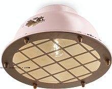 Foco de techo industrial vintage pink