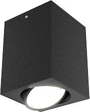 Foco de techo LED 7120, bombilla LED GU10, negro
