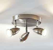 Foco de techo LED Benina, 3 focos, circular