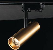 Foco de techo LED de riel Rocket 7W 3.000K dorado