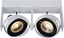 Foco de techo LED Griffon blanco, 2 luces