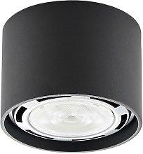 Foco de techo LED Mabel redondo, gris oscuro