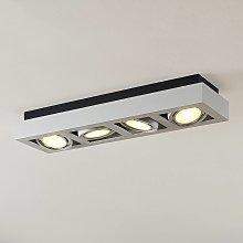 Foco de techo LED Ronka, 4 brazos, largo, blanco