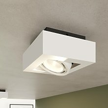 Foco de techo LED Ronka, GU10, 1 brazo, blanco