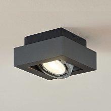 Foco de techo LED Ronka, GU10, 1 brazo gris oscuro