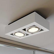 Foco de techo LED Ronka, GU10, 2 brazo, blanco