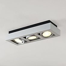Foco de techo LED Ronka, GU10, 3 brazo, blanco