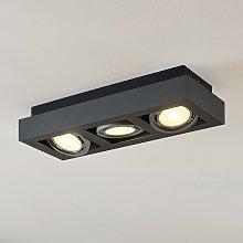 Foco de techo LED Ronka, GU10, 3 brazo gris oscuro