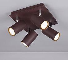 Foco de techo Marley color óxido 4 luces