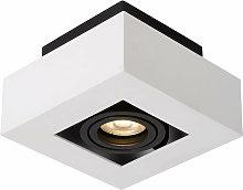 Foco de techo moderno Casemiro Blanco negro