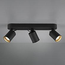 Foco de techo Pago, 3 luces, negro