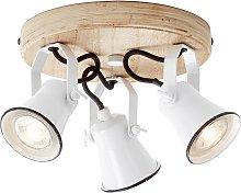 Foco de techo Seed, 3 luces blanco
