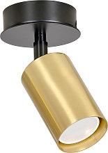 Foco de techo Zen 1, 1 luz en negro/oro