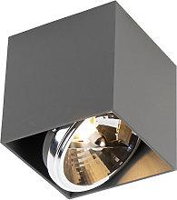 Foco diseño cuadrado gris claro 1-luz - BOX