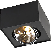Foco diseño negro cuadrado 1xG9 - KAYA