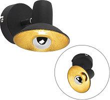 Foco diseño negro/oro 1-luz - AVRIL