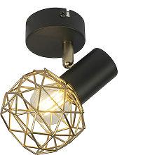 Foco diseño negro/oro 1-luz - MESH