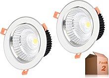 Foco Downlight LED 25W Pack 2 Blanco Neutro Aro