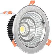 Foco Downlight LED 7W (ARO PLATA CALIDA)