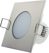 Foco downlight LED CobCarbon Square 5W IP54 Blanco