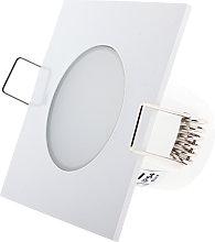 Foco downlight LED CobLow Square 5W IP54 Blanco