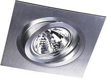FOCO EMPOTRABLE 1 LUZ HELIUM QR111 Color Aluminio