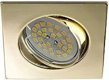 Foco empotrable BASIC cuadrado oro. - Wonderlamp