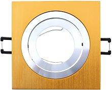 Foco empotrable CLASSIC cuadrado cobre. -