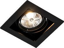 Foco empotrable cuadrado negro orientable -