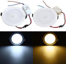 Foco empotrable de panel LED de 5W con sensor de