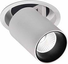 Foco empotrable LED blanca 7W luz cálida GARDA