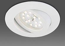 Foco empotrable LED Erik orientable, blanco