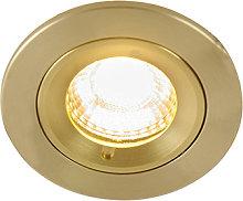 Foco empotrable moderno dorado 7,8cm IP44 - XENA