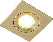 Foco empotrable moderno dorado IP44 - XENA Square