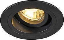 Foco empotrable moderno negro 9,2cm orientable -