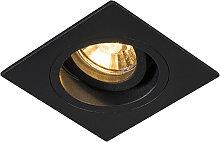 Foco empotrable moderno negro 9,3cm orientable -