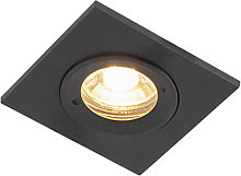 Foco empotrable moderno negro IP44 - XENA Square