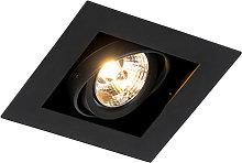 Foco empotrable moderno negro orientable - ONEON 70