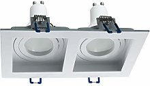 Foco empotrable rectangular doble lámpara LED