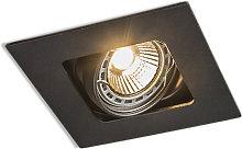 Foco empotrado cuadrado negro orientable - ARTEMIS
