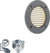 Foco empotrado de pared moderno gris LED IP65 -