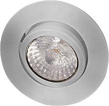 Foco empotrado de techo LED Rico 9 W acero cepill.